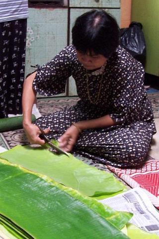 gunting daun pisang baik baik ikut saiz buluh